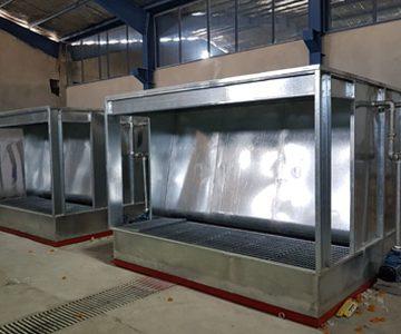 طراحی و تولید کابین آبشار رنگ مایع گروه صنعتی تکنو تجهیز