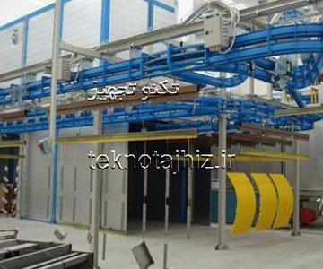 مراحل چرخه خط رنگ پودری الکترواستاتیک